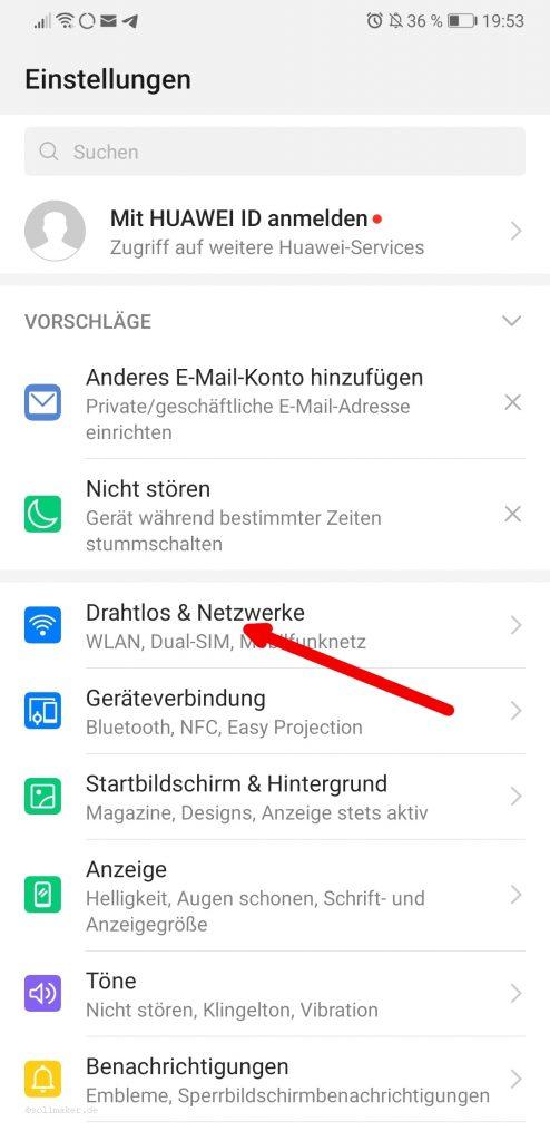 Android 9 Einstellungen