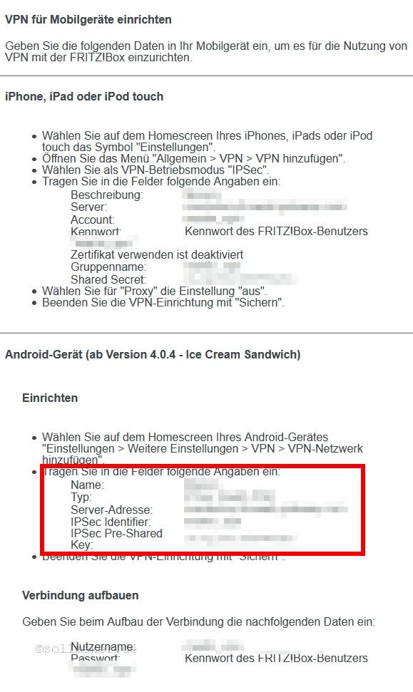 Fritzbox VPN Einstellungen anzeigen lassen