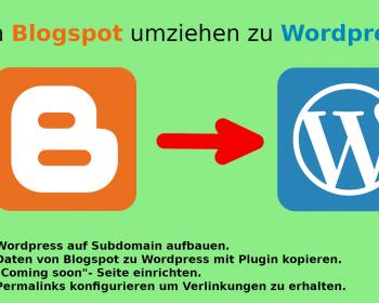 Blogger umziehen zu Wordpress